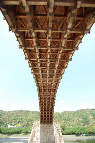 錦帯橋の構造美 The structural beauty of Kintaikyo Bridge